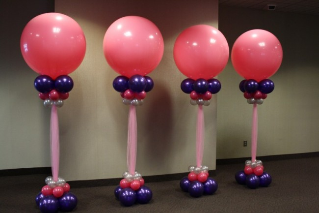 Balloon columns whims for Balloon column decoration